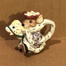 1992 Fitz and Floyd Mouse King creamer in very good condition Christmas Holiday