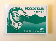 OEM Honda 2001 XR70R Owner's Manual