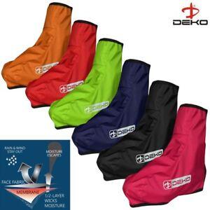 Deko Cycling Shoe Cover Waterproof HI VIS Bicycle Overshoe Water Resistant  0117
