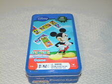 Pre-Owned Micky Mouse Club 28 piece Plastic Dominoes Game