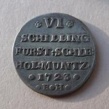1723 BH German 6 Schilling State SCHLESWIG-HOLSTEIN-GOTTORP Germany Coin KM#218
