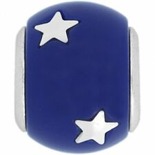 New Brighton CELEBRATION Blue Charm Bead Patriotic Stars Rare July 4th RETIRED