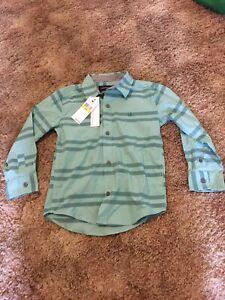 New Calvin Klein Jeans Boys Clothing Button Front Polo Shirt Size M(5)