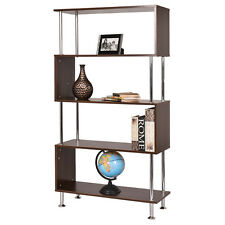 "32""x12""x58"" 4 Shelf Bookcase Wooden Bookshelf Storage Display Unit Furniture NEW"