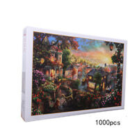 1000PCS Jigsaw Puzzles Educational Toy Scenery Quiet Town Adult Kid Puzzl A8A