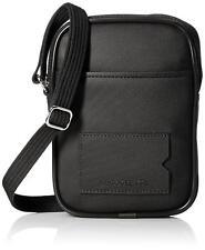 Lacoste Men's Classic Embossed Croc Logo Vertical Camera Bag Black Iris NH1642HC