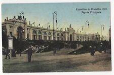Exposition de Bruxelles 1910 Facade Principale Postcard Us086