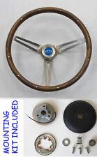 "Blazer C10 C20 C30 Truck Grant Wood Steering Wheel 15"" Blue Bowtie Center Cap"