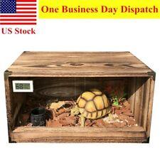 Reptile Tank Enclosure Heat Cage with Screen Ventilation Tortoise Lizard