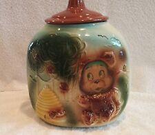 Vintage Corner Three Sided Very Unusual Smiling Bear Cookie Jar