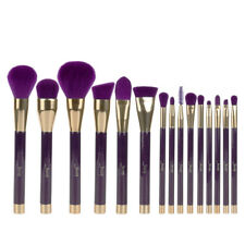UK 15X Powder Eyeshadow Foundation Makeup Brushes Set Eyeliner Tools Purple