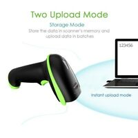 2.4G Wireless Bluetooth Barcode Scanner Image Scanner IP54 Compatible with Phone
