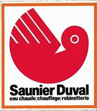 Autocollant,Stickers vintage:Saunier Duval, eau chaude,chauffage, robinetterie.