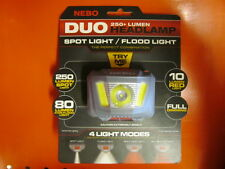 250 Lumen LED NEBO Duo Headlamp Spot&Flood Light 4 Modes Hunting Camping Fishing