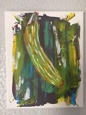 BANANA IMPRESSIONISM ABSTRACT ORIGINAL PAINTING MODERN SMALL KYLE WOLFE