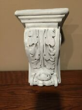 Plaster Distressed Corbel White-washed Silver undertones. VERY SHABBY CHIC!