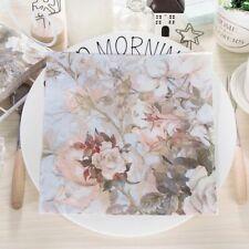 Vintage Flowers Decoupage Serviettes Wedding Printed Napkins Paper Tissue A97