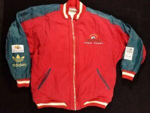 vtg 90's RARE! Barcelona Dragons American Football Reebok Team Jacket Adidas Med