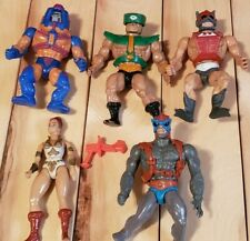 He Man MOTU Masters Of The Universe Actuon Figure Lot Of 5 1980s Vintage