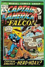 Captain America (1968) & Falcon #153 VG+ (4.5) 1st brief Jack Monroe (Nomad)