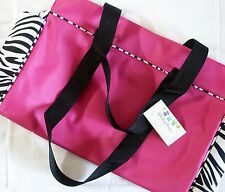 Hot Pink w Zebra Print Tote & Bib Set NEW ***LAST SET*** Nappy Bag & Bib