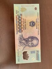 VIETNAMESE DONG CURRENCY (VND) (1) Single 500,000 Banknote 500K Vietnam Unc