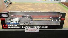 DCP #32814 KW W900 SEMI CAB TRUCK W/ CUSTOM PARTS & LOWBOY TRAILER 1:64/FC