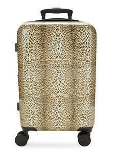 Designer Roberto Cavalli Classic Logo Leopard Cheetah TSA Carry-On Luggage $825