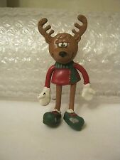 Posable Moose Figurine, Red Shirt, Green Shoes by CE Toys  (010-16)