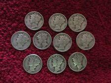 Lot of 10 mercury dimes