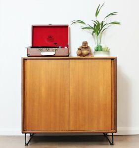 Vintage Retro G Plan Sideboard Cabinet Scandi Teak Hairpin legs Mid century