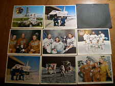 8x autographed crew pictures Apollo 10, Apollo 17, and Skylab missions
