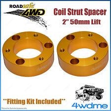 "Pair Toyota Hilux KUN26 4WD Roadsafe Front Coil Strut Spacer 2"" 50mm Lift Kit"