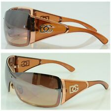 92753b460368 DG Women Eyewear Fashion Designer Sunglasses Shades Shield One Lens Brown  9003