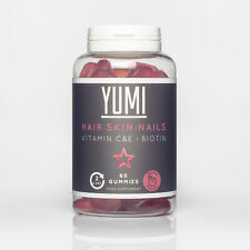 YUMI - Hair, Skin and Nails Supplement with Biotin, Vit C & E- 60 Vegan Vitam...