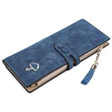 Long Umbrella Wallet Button Clutch Purse Bag Faux Leather Women Wallets Purses