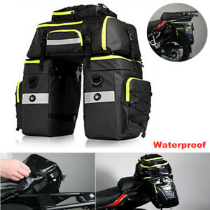 Universal Cycling Motorcycle Rear Tail Seat Bag Waterproof Shoulders Backpack