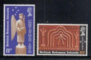 BRITISH SOLOMON ISLANDS Christmas 1970 MNH set