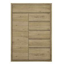1 Door 6 Drawer Cupboard Living Room Furnicture, Shetland Oak Finish