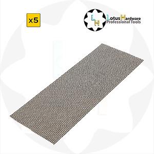 Abrasive Mesh Sanding Sheets 275mm x 105mm Packs of 5, 10 or 50