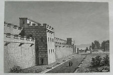 POMPEJI - Antike Stadtmauer - Pompei ITALIEN Italia. Orig.Stahlstich 1860