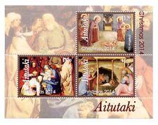 Aitutaki - Postfris / MNH - Sheet Christmas 2014