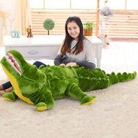 "59"" Giant Hung Big Jumbo Crocodile Stuffed Animal Plush Soft Doll Toys Xmas Gift"