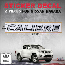 2pcs Calibre Sticker Decal Logo Badge Silver Fits Nissan NAVARA Np300 11