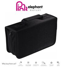 128 CD Case DVD Wallet Cover Disc Storage Holder Sleeve Handle Portable Car Home