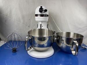 Kitchenaid Professional 6 Professional Grade 6 Qt Mixer KP2671XWH W/ 2 6QT Bowls