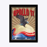 "Moon Landing 50th Anniversary Apollo 11 Gift Poster - 18""x24"""
