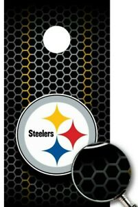 Pittsburgh Steelers Cornhole Wrap NFL Decal Sticker Surface Texture Single W84