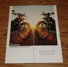 Original 1973 Harley Davidson Motorcycle SXT 125 SX 175 250 SS Sales Brochure