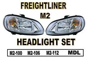Freightliner M2 HEADLIGHT SET (2002+)  M2-100  M2-106  M2-112   MDL Trucks